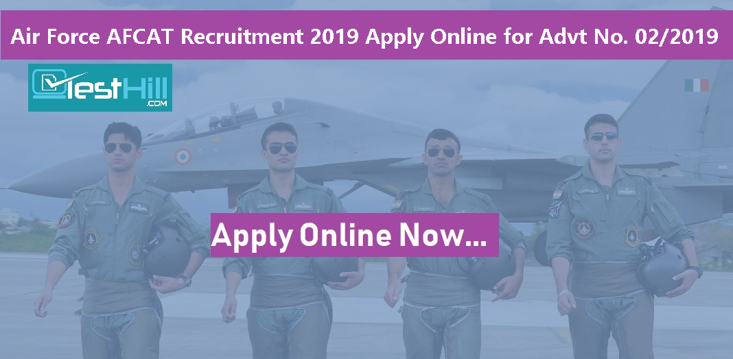 Air Force AFCAT Recruitment 2019 Apply Online