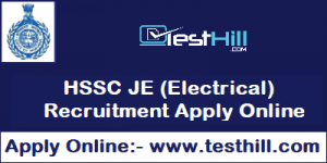 HSSC JE (Electrical) Recruitment