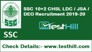 SSC 10+2 CHSL Recruitment