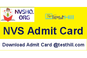 NVS Assistant Computer Operator Admit Card