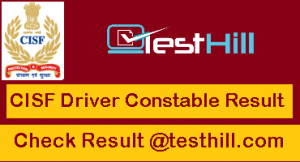 CISF Constable Driver Result