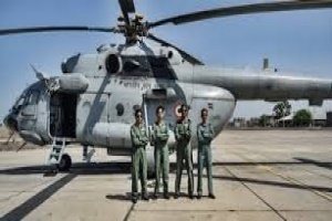 India's first all woman crew flies Mi - 17 V5 medium lift helicopter