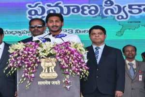Y S Jaganmohan Reddy was sworn in as second Chief Minister of Andhra Pradesh