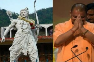 CM Yogi Adityanath unveiled a 7 foot tall statue of Lord Rama at the Shodh Sansthan museum