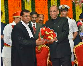 Justice Raghavendra Singh Chauhan took oath as Chief Justice of the Telangana High Court