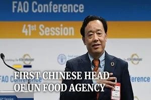 Qu Dongyu, the first Chinese to head national FAO