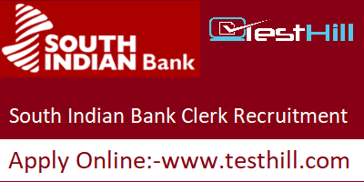 South Indian Bank Clerk Recruitment 2019