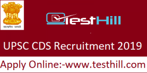 UPSC CDS Recruitment 2019