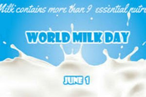 World Milk Day is observed on 1 June