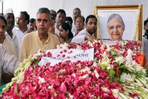 Former Delhi CM Sheila Dikshit Exequies with state honours