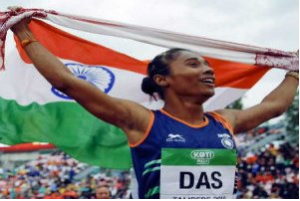Hima Das gained the women's 200m gold in the Poznan Athletics Grand Prix in Poland