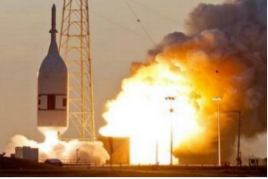 NASA successfully experimented Ascent Abort-2, a test of a launch-abort system, for the Orion capsule