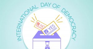 15th September is celebrated as International Day of Democracy