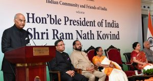 President Kovind addresses the Indian community in Switzerland