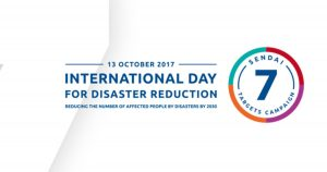 13 October as International Day for Disaster Risk Reduction
