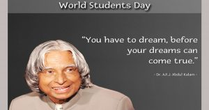15 October observed as World Students Day