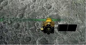 Chandrayaan-2 Orbiter detected charged particles and its intensity variations on Moon