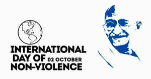 International Day of Non Violence is celebrated on 2 October