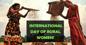 International Day of Rural Women was observed on 15 October