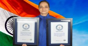 Kiran Uniyal hovers Guinness World record