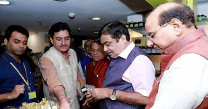 Nitin Gadkari launched cow dung soaps, bamboo bottles