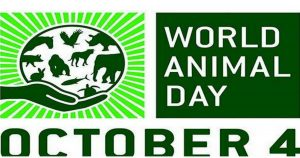 World Animal Day is observed on 4 October