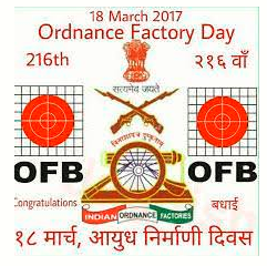 18th March as Ordnance Factory Board foundation day