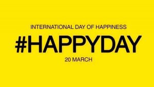 International Day of Happiness is observed on 20 March
