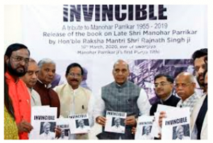 Rajnath Singh released Tarun Vijay's 'Invincible' book on Manohar Parrikar