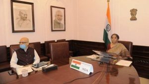 Finance Minister Nirmala Sitharaman visited 5th Annual Meeting of Board of Governors of AIIB